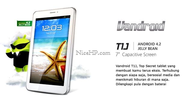 Harga dan Spesifikasi Advan Vandroid T1J Terbaru