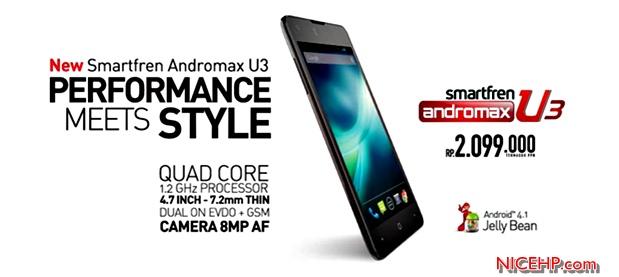 Harga dan Spesifikasi Smartfren Andromax U3