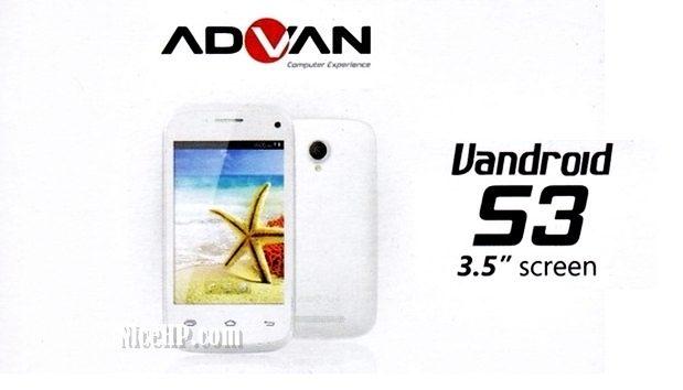 Harga dan Spesifikasi Advan Vandroid S3