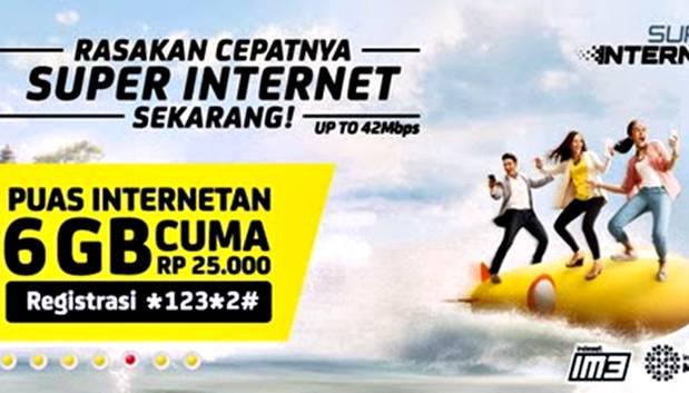 Harga Paket Super Internet Indosat dan Cara Registrasinya