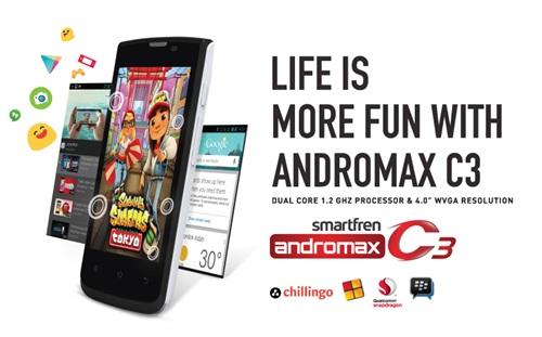 Harga Smartfren Andromax C3, Murah Berspesifikasi Android KitKat