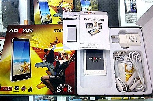 Harga Advan Star 5 (Five), Spesifikasi Rising Star Series