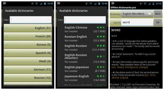 aplikasi Offline Dictionaries