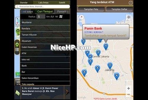 GPS Mengemudi Rute