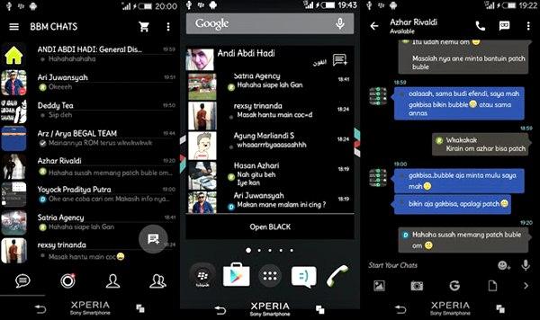 BBM Mod I-Messenger V7 Dark Theme Base 3.0.1.25 Apk