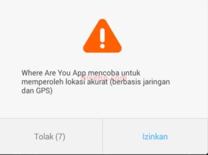Aplikasi Where Are You