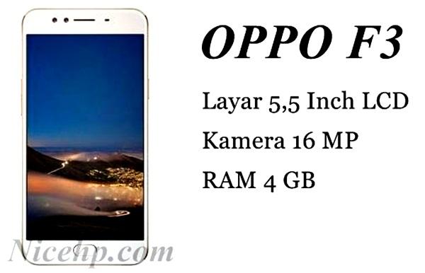 Spesifikasi dan Harga Oppo F3