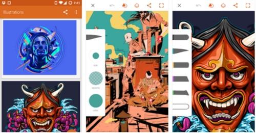 Aplikasi Menggambar di Android Adobe Illustrator Draw